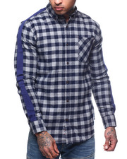 Button-downs - FLANNEL CHECK WITH STRIPE SLEEVE-2309585