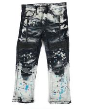 Bottoms - Paint Splatter Moto Jeans (4-7)-2309221