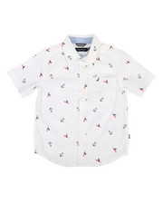 Nautica - Stretch Allover Anchor Print Shirt (2T-4T)-2308582