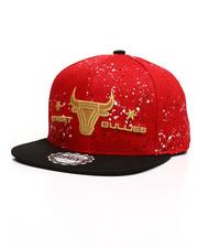 Buyers Picks - Splatter Print Gold Logo Snapback Hat-2309485
