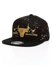 Buyers Picks - Splatter Print Gold Logo Snapback Hat-2309483