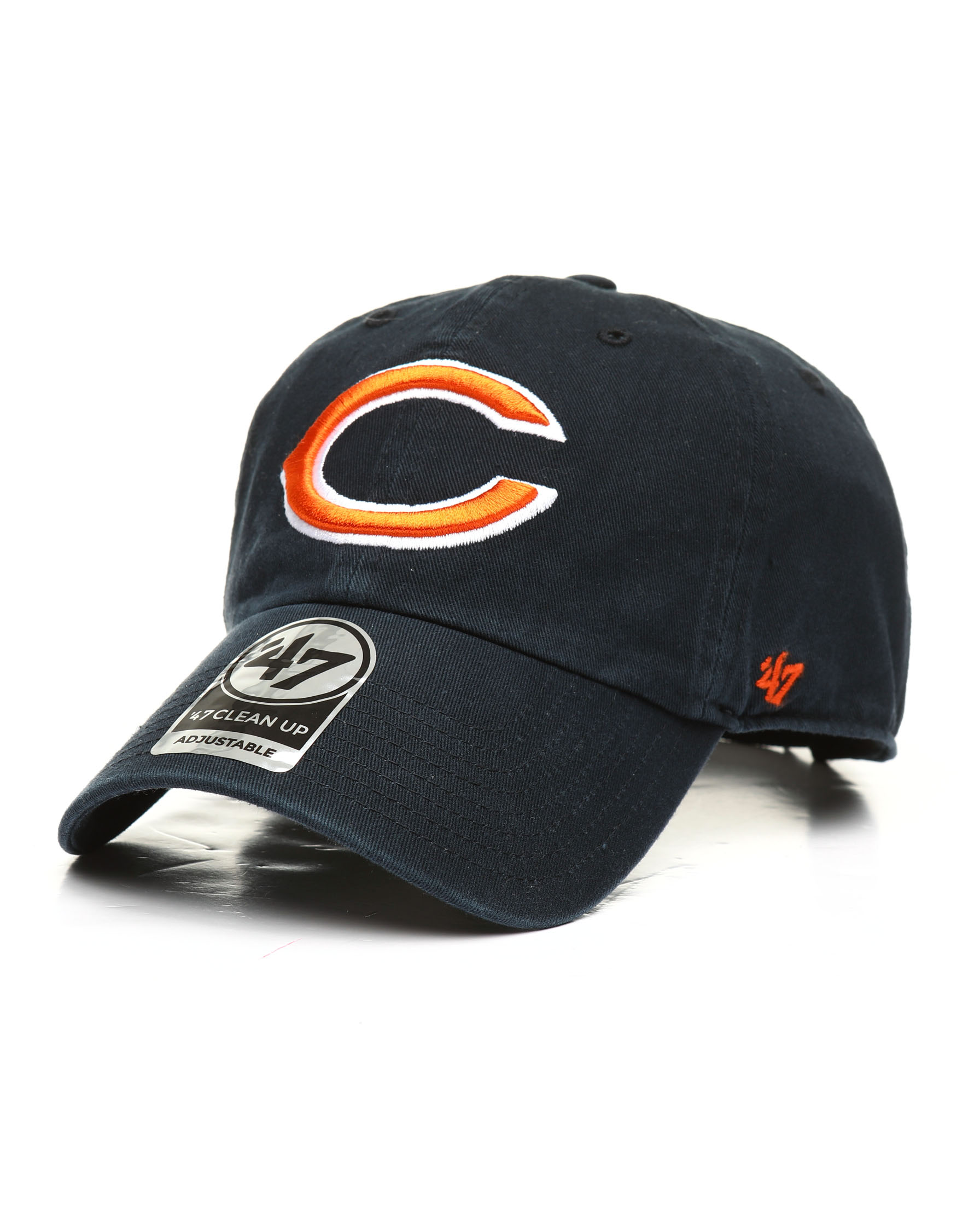 067dab5e Buy Chicago Bears Clean Up Strapback Cap Men's Hats from '47. Find ...