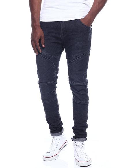 Buyers Picks - Black Moto Seamed Stretch Jean