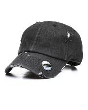 Dad Hats - Distressed Vintage Wash Dad Hat-2310087