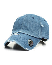Hats - Distressed Vintage Wash Dad Hat-2310086