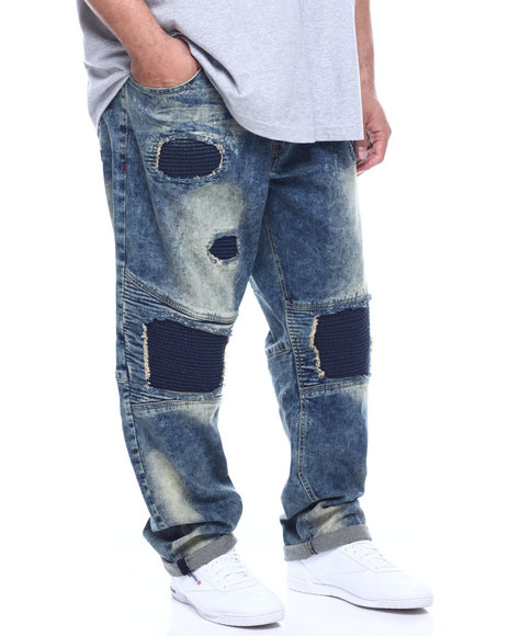 Makobi - Biker Rip & Repair Jeans (B&T)