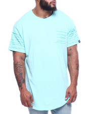 Phat Farm - S/S Rip & Repair Scoop Bottom Long Crewneck Jersey W/ Zip Vent (B&T)-2310834