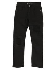 Bottoms - Moto Twill Jeans w/ Patch detail (8-20)-2309970