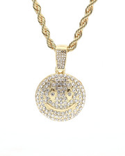 Jewelry & Watches - Bling Smiley Face Chain-2309998