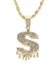 Men - Blinged Out Dollar Sign Drip Chain-2310003