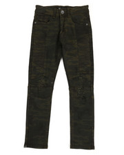 Sizes 8-20 - Big Kids - Side Moto Camo Denim Jeans (8-20)-2309946