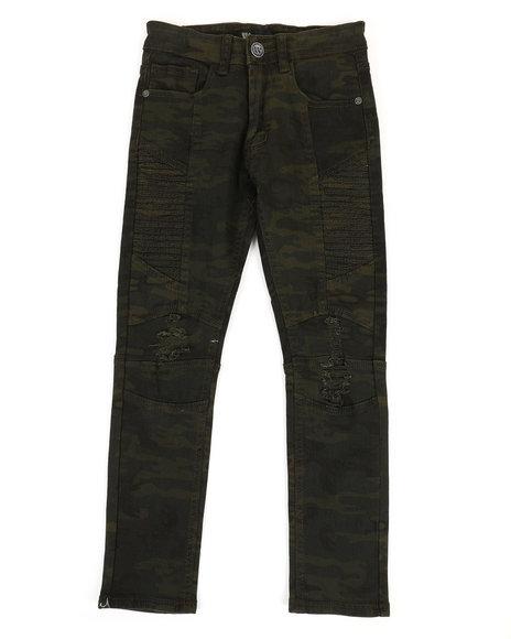 Arcade Styles - Side Moto Camo Denim Jeans (8-20)