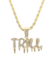 Jewelry & Watches - Blinged Out Trill Drip Chain-2310001