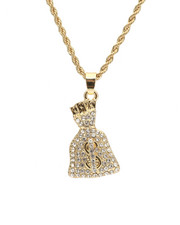 Jewelry & Watches - Blinged Out Money Bag Chain-2310000