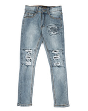 Arcade Styles - Knee Cut Jeans (8-20)-2309893