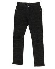 Sizes 8-20 - Big Kids - Side Moto Camo Denim Jeans (8-20)-2309954