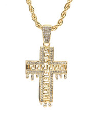 Men - Blinged Out Cross Drip Chain-2310002