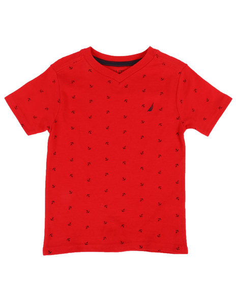 Nautica - Allover Anchor Print Tee  (2T-4T)