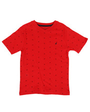 Nautica - Allover Anchor Print Tee  (4-7)-2310332