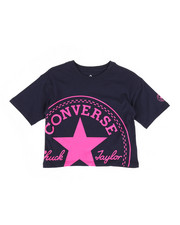 Girls - Oversized Converse Crop Top (7-16)-2310848
