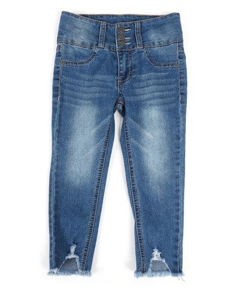 Lee - Destructed Hem Ankle Crop Jeans (4-6X)