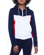 Fashion Lab - Tech Fleece Color Block Full Zip Hoodie-2311253