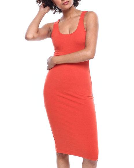 Fashion Lab - DBL Scoop NK Bodycon Tank Dress