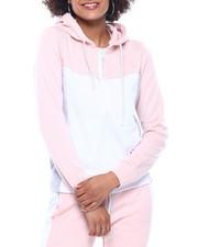 Fashion Lab - Tech Fleece Color Block Full Zip Hoodie-2311269