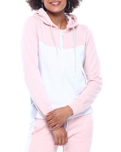 Fashion Lab - Tech Fleece Color Block Full Zip Hoodie
