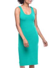 Women - DBL Scoop NK Bodycon Tank Dress-2310248