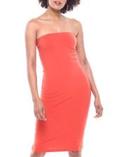 Dresses - Bandeau Tank Deserve W/ Slit Ruching At Bustline-2310252