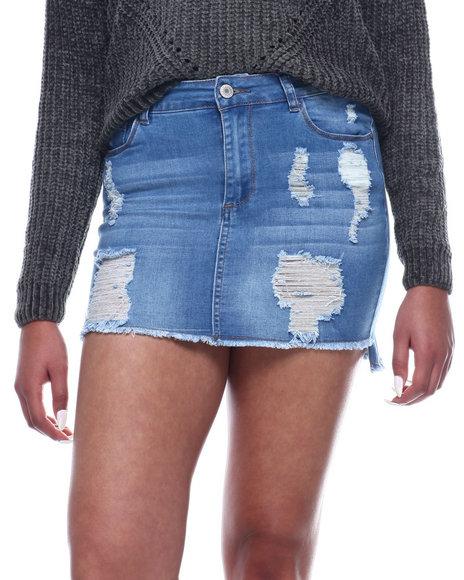Fashion Lab - Destructed Denim Skirt