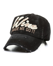 Dad Hats - Wine Made Me Do It Vintage Distressed Dad Hat-2311510