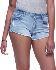 Bottoms - Cut Off Frayed Denim Short-2311532