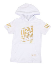 Boys - Foil Stripe Hoodie (8-20)-2311002