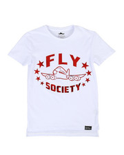 Fly Society - Mirror Metallic Logo Printed Tee (8-20)-2311434