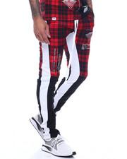 Jeans & Pants - PLAID HUMAN ERROR TRACK PANT-2312161