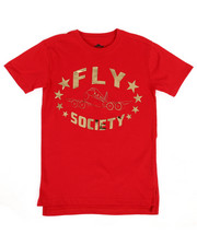 Fly Society - Mirror Metallic Logo Printed Tee (8-20)-2311429