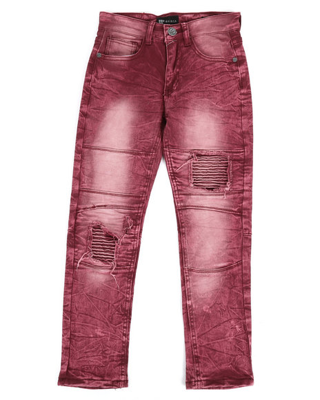 Arcade Styles - Moto Twill Jeans w/ Patch detail (8-20)