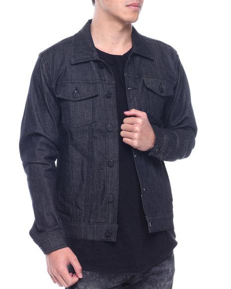 Jordan Craig - noir raw denim jacket