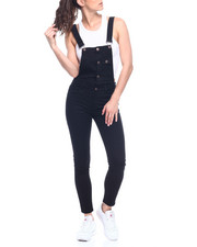 Bottoms - Distressed Button Front Denim Overall-2312782