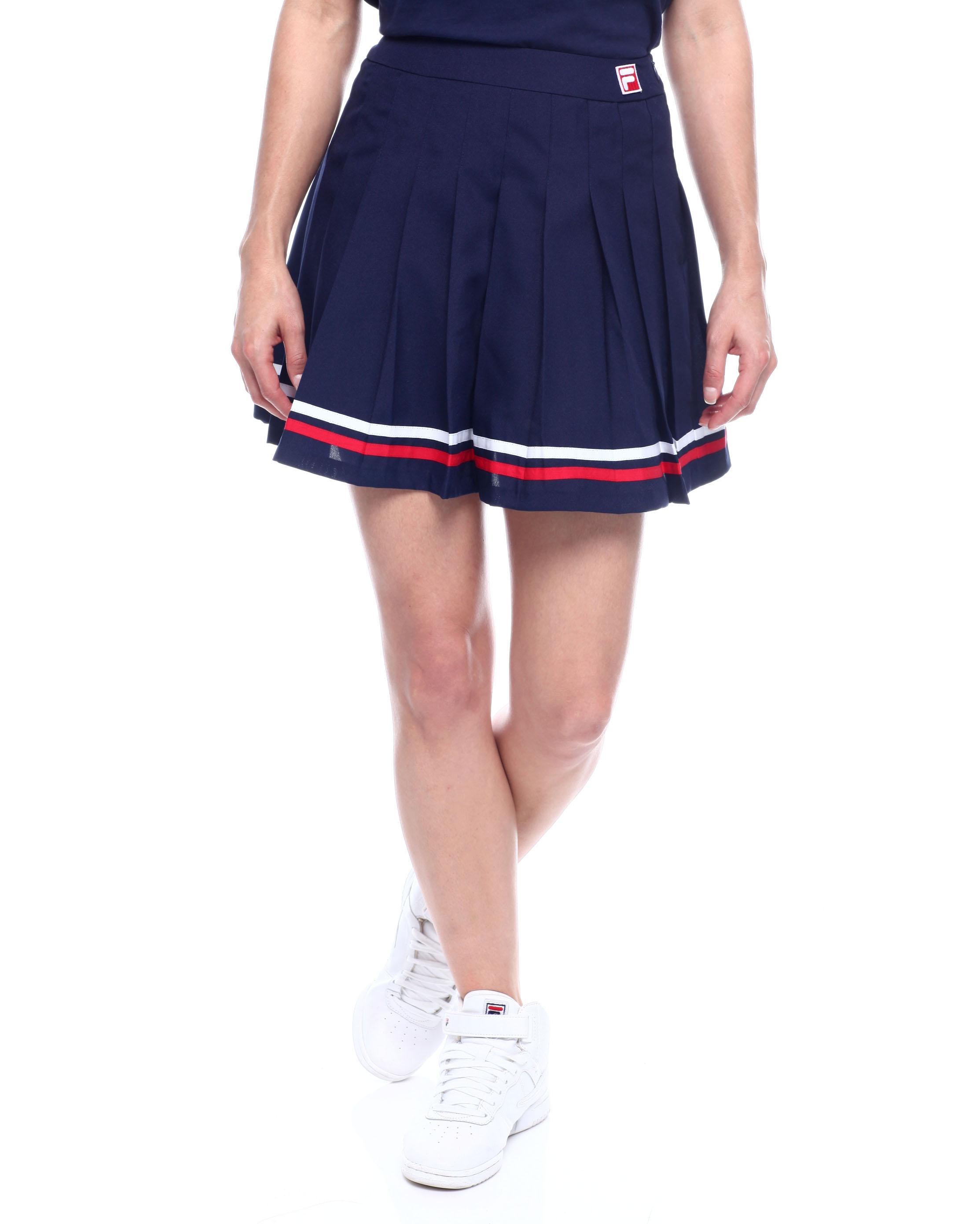 theff2c fila girls pleated bottom tennis skirt navy