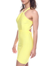Wow Couture - HALTER NECK BANDAGE DRESS-2312426