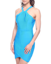 Bodycon - HALTER NECK BANDAGE DRESS-2312382