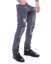 Jeans & Pants - Blownout Knee w Patch Stretch Jean w Zipper Detail-2313009