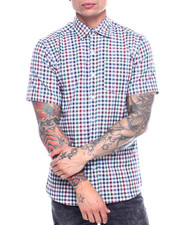 Button-downs - Multi Gingham Plaid SS Woven Shirt-2313479