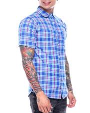 Button-downs - Blue Plaid SS Woven Shirt-2313503