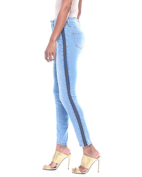 Fashion Lab - Taped Side 5 Pocket Skinny Jean