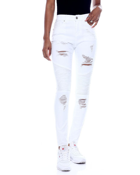 Fashion Lab - High Waist Moto Skinny Jean