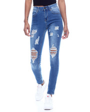 Bottoms - High Waist Destructed Skinny Jean-2312527